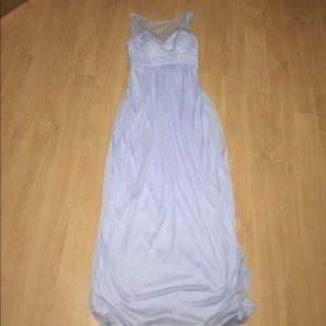 David's Bridal - Ice blue bridesmaid dress