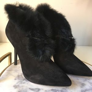 Via Spiga•Melania Rabbit Fur Cuff Boot