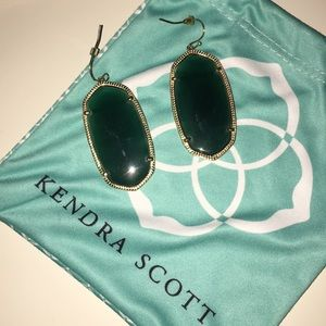 Green Kendra Scott Earrings