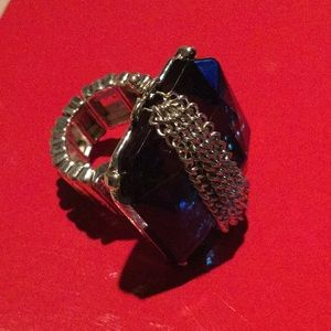 Fun blue stone and silver ring