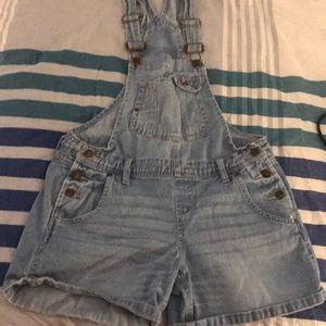 Jean short overalls