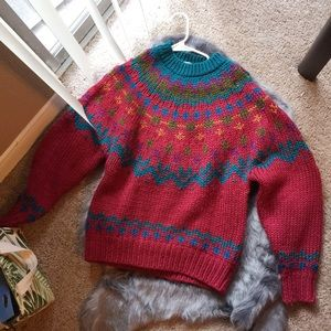 Vintage IVY hand knit oversized sweater.