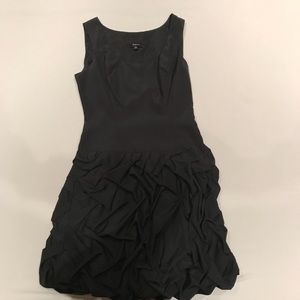 Black ruffle cocktail dress size 0