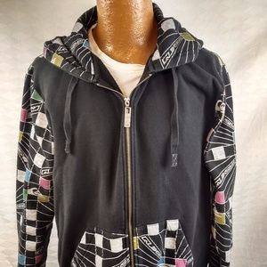 QUIKSILVER HIP CALI SURF HOODIE COLORFUL Mens M