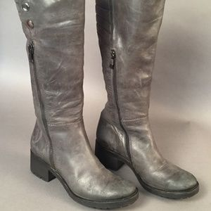 ALBERTO FERMANI Gray Knee High Boots Size 7