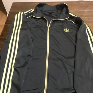 Adidas men's sz 3XL black and gold track jacket