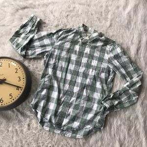 Lands' End Holiday Button Down Shirt Hipster Men's