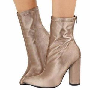light gold women's boots