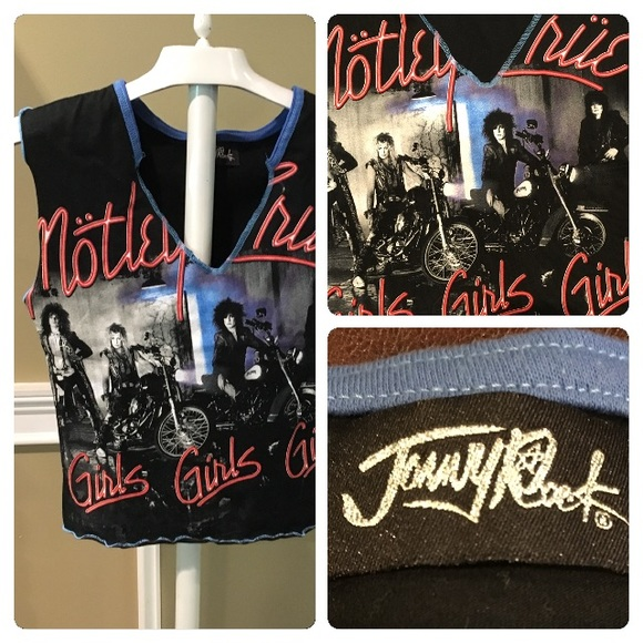 Rare Unworn JONNY ROCK Official MOTLEY CRUE Girls Heavy Star Tank Top Shirt S 36