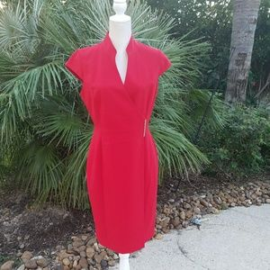 Calvin Klein red dress, sz 10