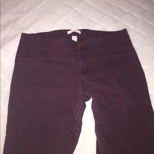 Refuge burgundy jeans