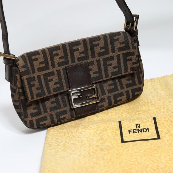 64440cd8d8dd Fendi Handbags - Fendi zucca baguette bag