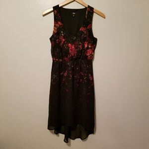 Mossimo Dress Black Pink Floral Size XS