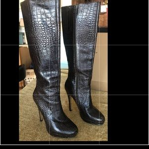 Charles by Charles David Croc Embossed Boots