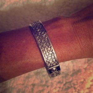 Authentic silver Coach bracelet