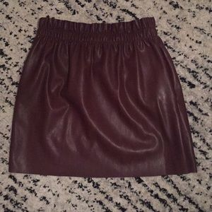 Zara Faux Leather Skirt NWOT