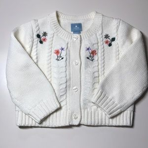 New with tags baby girl baby gap cardigan 6-12m