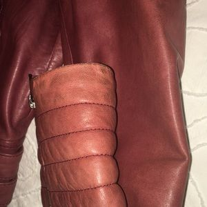 Trouve Jackets & Coats - Trouvé Nordstrom Motorcycle Leather Jacket Red