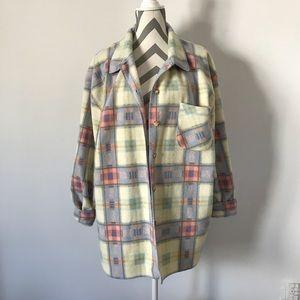 Vintage Plaid Fleece Jacket