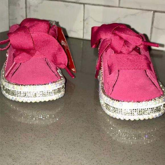 Customized Pink Sweet Heart Puma Sneakers