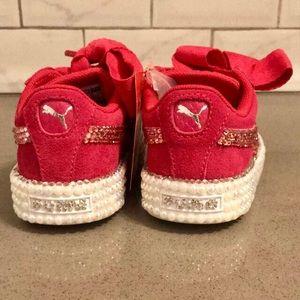 Puma Shoes - Customized Pink Sweet Heart Puma Sneakers 935936956