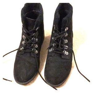 Black combat forever 21 boots!!