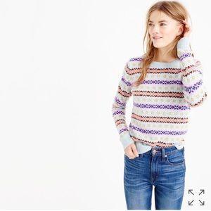 J. Crew Fair Isle crewneck sweater XXS