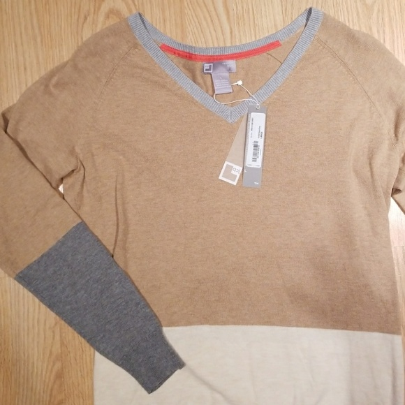 aa5f3daf9c8 SALE NWT JCP Cashmere Blend Brown Sweater