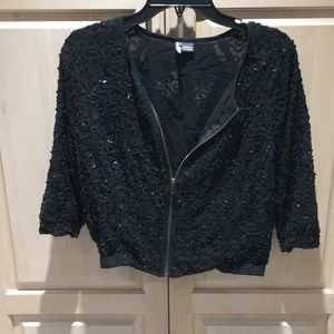Sparkle and Fade zip up sequin crop jacket
