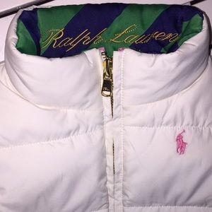 Girl's Ralph Lauren down winter vest.