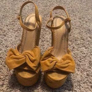 Women's Yellow Wedge Heels
