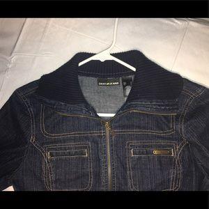 DKNY Dark Denim Blue Jean Jacket
