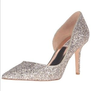 Badgley Mischka Daisy Heels- glitter heels