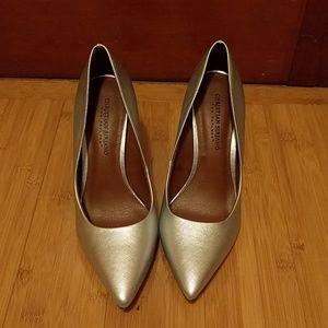 *worn once* silver heels
