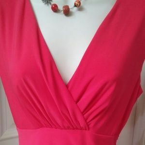 Ralph Lauren Coral Red Dress