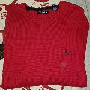 New Chaps Red Sweater.