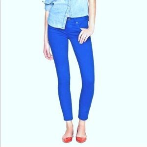 J. CREW BLUE GARMENT-DYED TOOTHPICK JEANS- Size 25