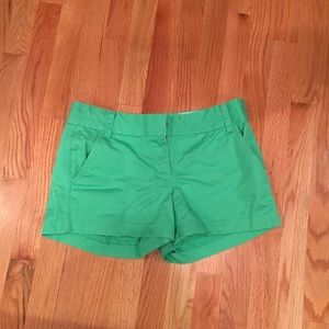 J. Crew Green Chino Shorts, Size 4