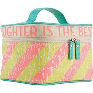 NWT! Benefit Traincase Makeup Cosmetic Case Bag