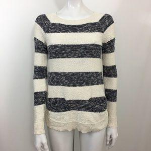 Lou & Grey XS Crew Neck Striped Sweater