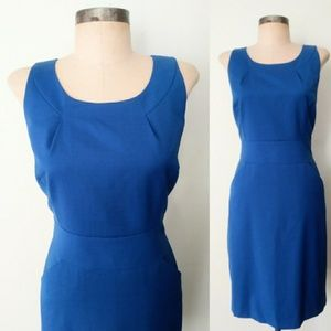 J.Crew Bright Blue Secretary Shift Dress