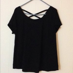 Torrid black top with crisscross back size 0/L