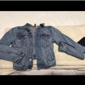 H&M denim jacket size 2