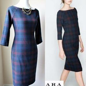 Zara checkered plaid dress