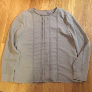 Grey Jcrew blouse with back buttons