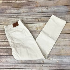 Madewell Demin Cream Straight Distressed Size 29