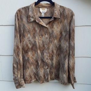 Talbots Silk Blouse Size 18