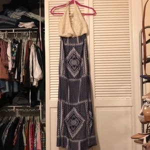 Crochet halter top maxi!!