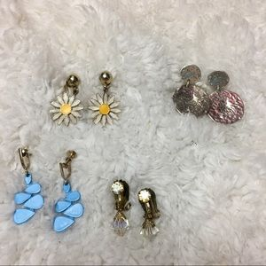 🎈 Vintage Clip On Earrings Fun Love Bundle