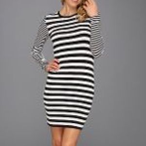 Michael Michael Kors Stripe Long Sleeve Dress